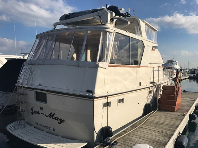 1983 Hatteras boat for sale, model of the boat is 48MY & Image # 6 of 71