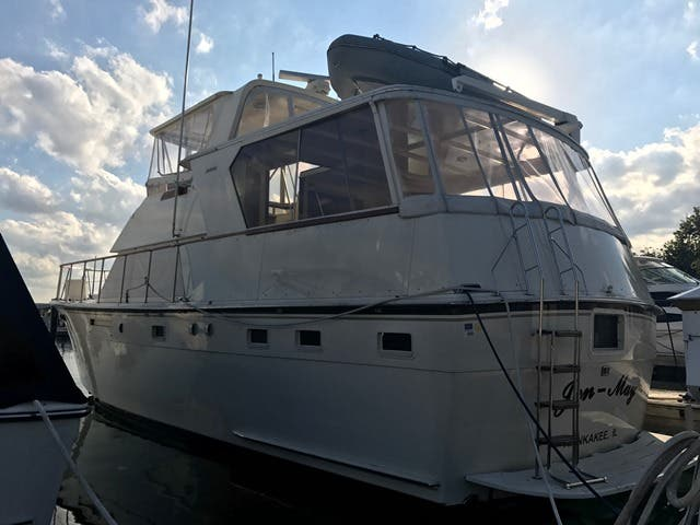 1983 Hatteras boat for sale, model of the boat is 48MY & Image # 7 of 71