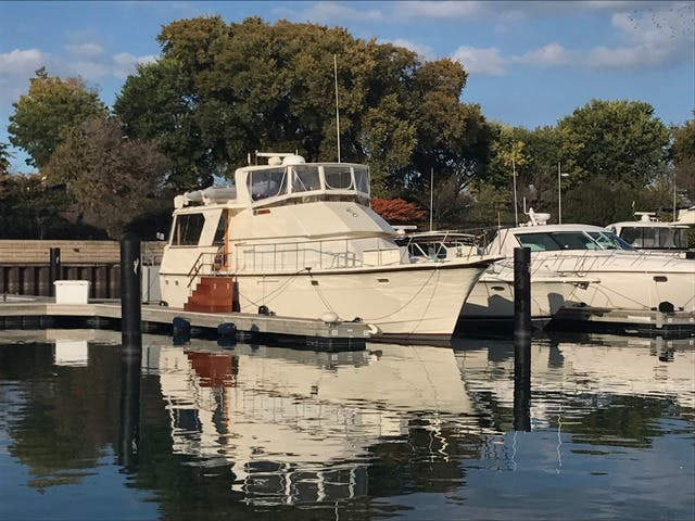 1983 Hatteras boat for sale, model of the boat is 48MY & Image # 8 of 71