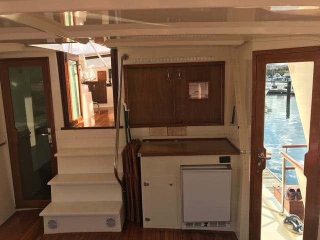 1983 Hatteras boat for sale, model of the boat is 48MY & Image # 24 of 71