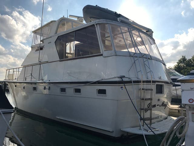1983 Hatteras boat for sale, model of the boat is 48MY & Image # 39 of 71