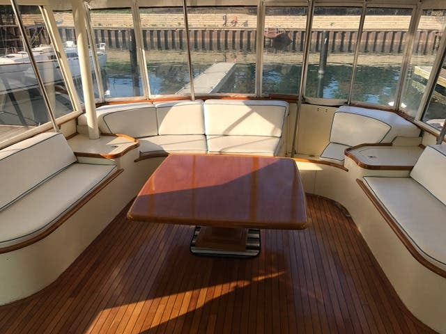 1983 Hatteras boat for sale, model of the boat is 48MY & Image # 46 of 71