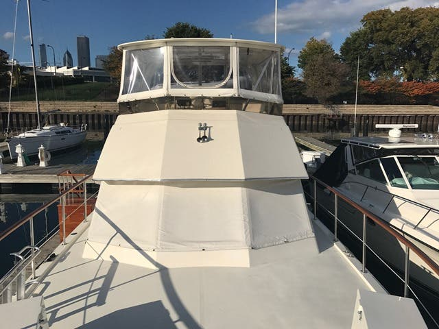 1983 Hatteras boat for sale, model of the boat is 48MY & Image # 55 of 71