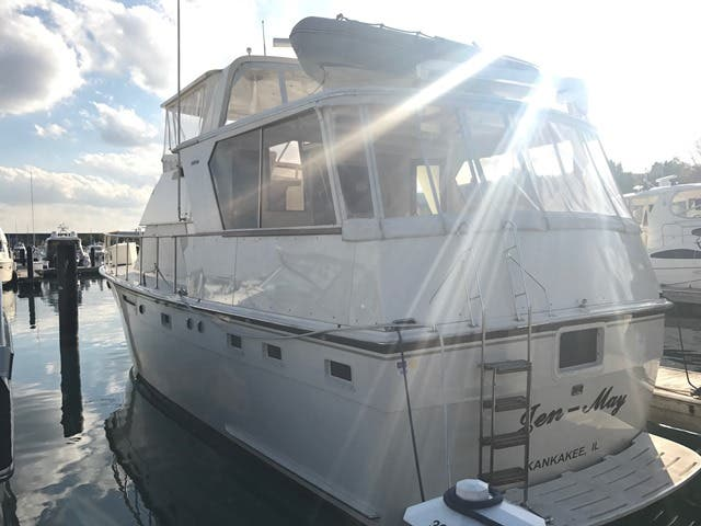 1983 Hatteras boat for sale, model of the boat is 48MY & Image # 38 of 71