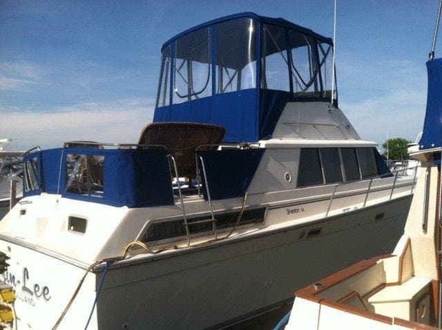 1989 Silverton boat for sale, model of the boat is 40 AFT CABIN & Image # 4 of 39