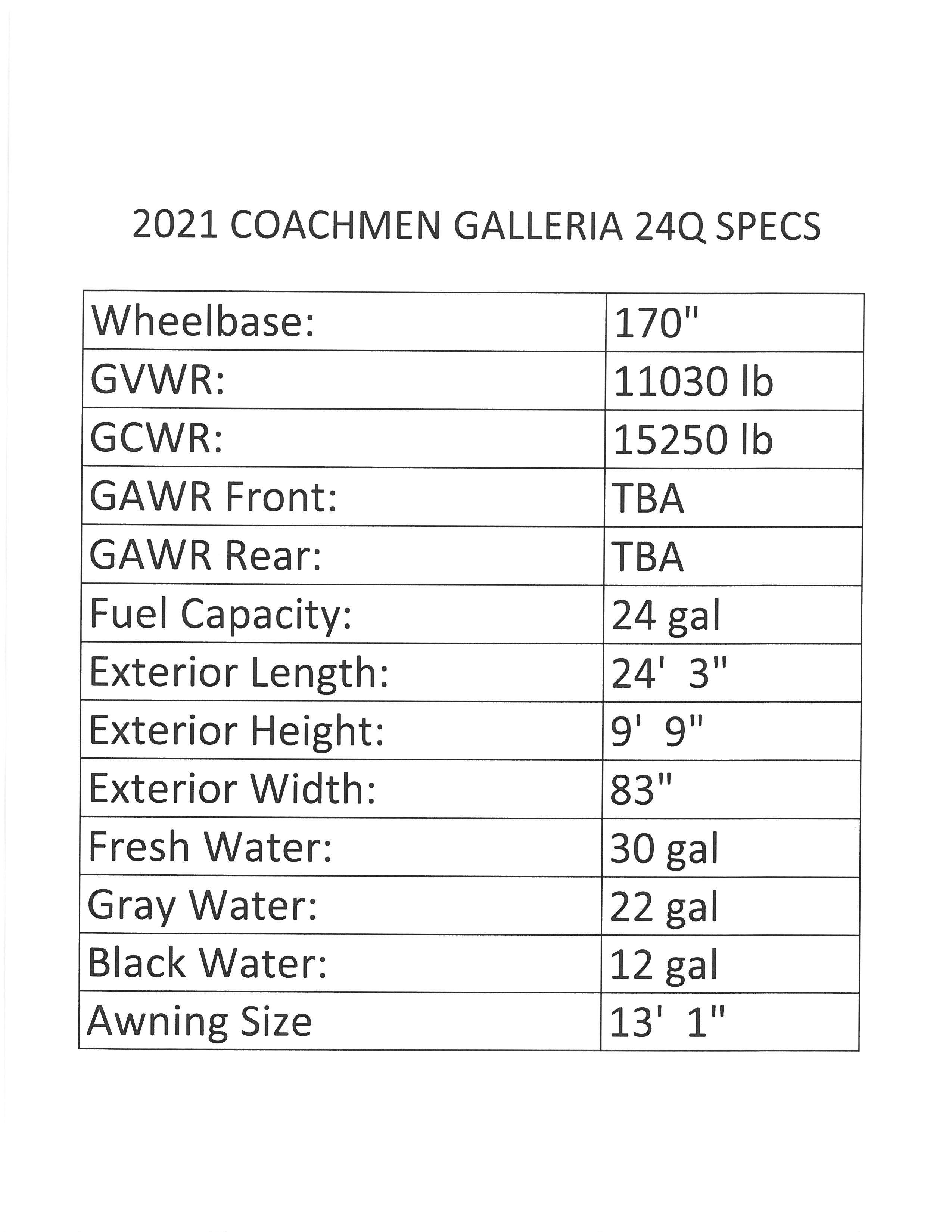 2021 Coachmen Galleria 24Q Thumbnail