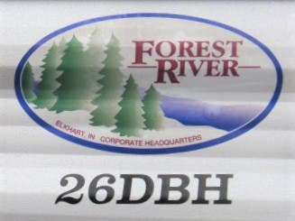 2021 Forest River Cherokee Grey Wolf 26DBH Thumbnail