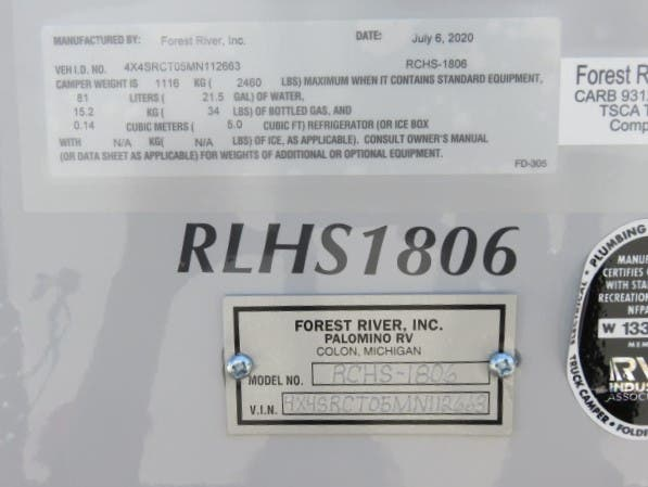 2021 Forest River Palomino Real Lite HS-1806 Thumbnail