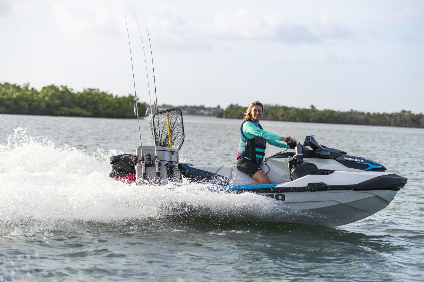 2021 Sea Doo PWC boat for sale, model of the boat is FISH PRO 170 SS IDF & Image # 3 of 6